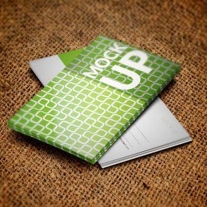 Psd Business Card Green