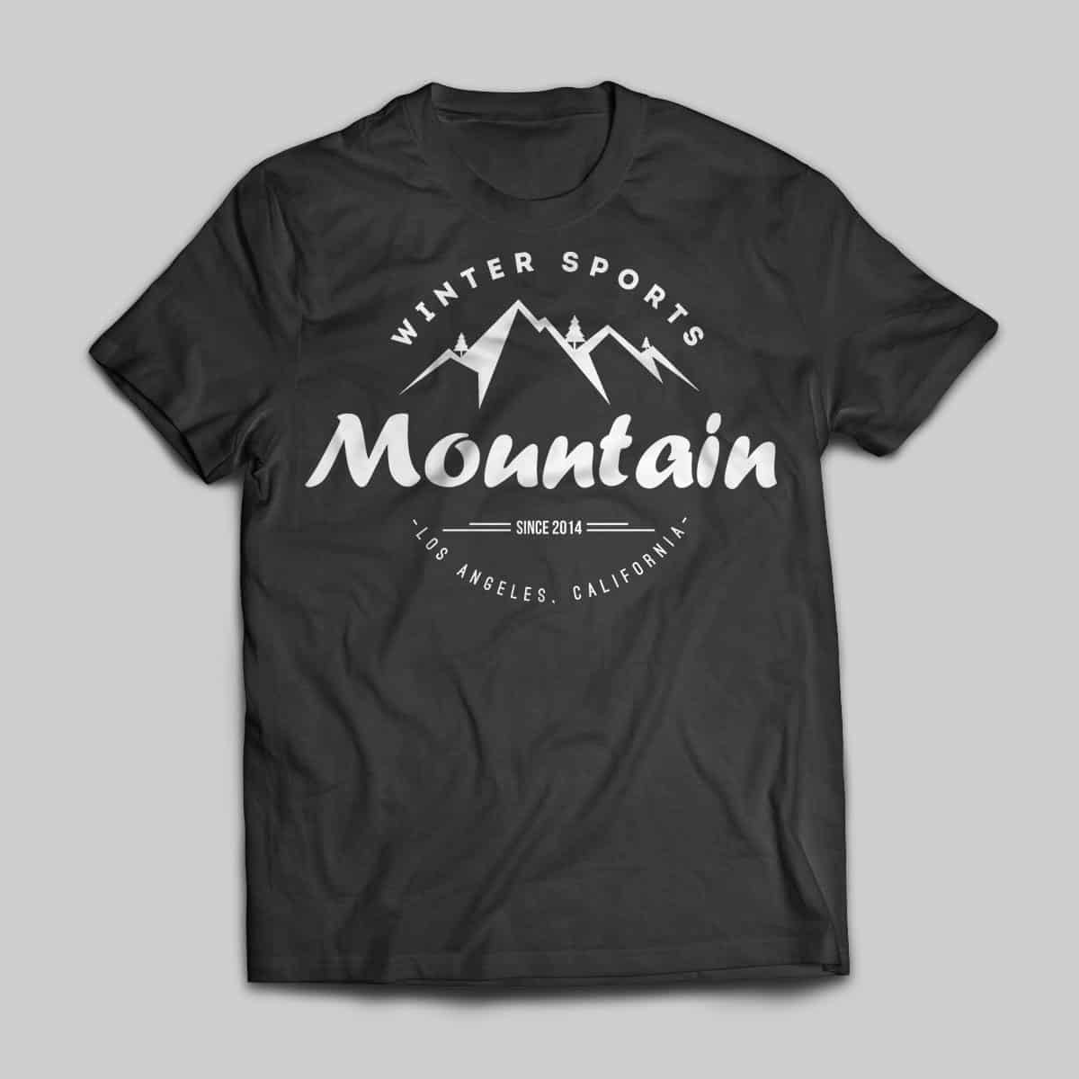 Mountain t shirt virtue theme for Wordpress t shirt store theme free